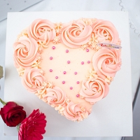 Blooming Heart Cake