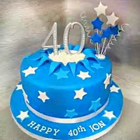 Blue Star cake for 40 Year