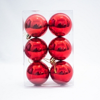 Christmas Decoration Baubles - Red