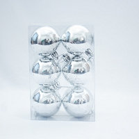 Christmas Decoration Baubles - Silver