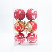 Christmas Decoration Baubles- Shiny Red