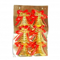 Christmas Tree Deco-Bells -6 Nos