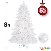 Christmas Tree White 8 Feet