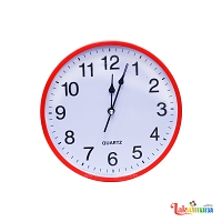 Red Edge Wall Clock