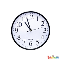 Black Edge Wall Clock