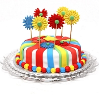 Colorful Flowers Cake - 1.5kg
