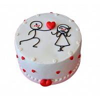 Couple In Love Cake - 1.5Kg