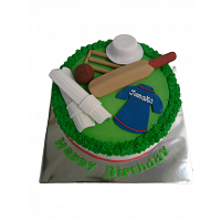 Cricket Theme Birthday Cake Design - 1.5KG