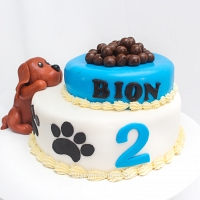 Cute Brown Doggy Cake -2kg