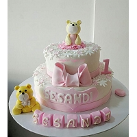Cute Teddy Bear Birthday Cake