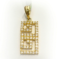 DP 2005 22k Gold Pendant set with Swarovski (3.350g)