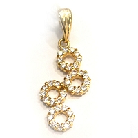 DP 2007 22k Gold Pendant set with Swarovski (2.010g)