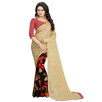 Designer Printed Saree With Unstiched Blouse