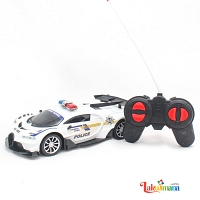 Extreme RC White Police Car