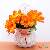 Fire Bloom Wall Hanging Flower Basket