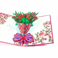 Flower Bunch 3D Popup Card