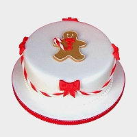 Gingermen men Christmas cake