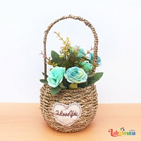 Golden Time Flower Basket