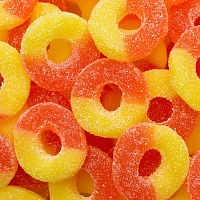 Gummy Ring, Peach 250g