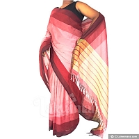 Handloom Pink color and Maroon color Saree