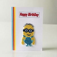 Handmade Happy Birthday Minions Card