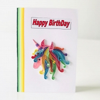 Handmade Happy Birthday Unicorn Card