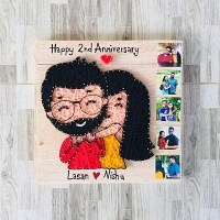 Happy Anniversary String Art