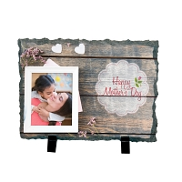 Happy Mother's Day Rock Photo Slate