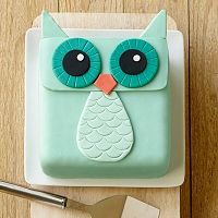 Happy Owl Cake