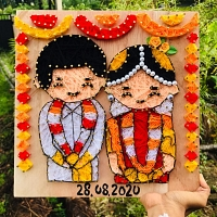 Happy Wedding String Art