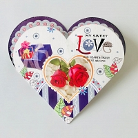 Heart Shape My Sweet Love 3D Card
