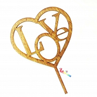 Heart Wooden Cake Topper