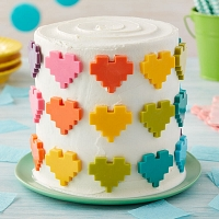 Hearts Full of Color Cake