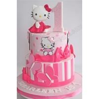 1st Birthday Hello Kitty Tier Cake 2.5kg