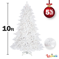 Huge White 10 Feet Christmas Tree