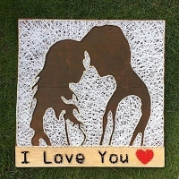 I Love You String Art