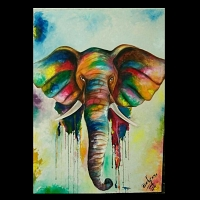 Colorful Elephant Paint