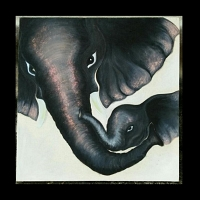 Elephant Mom & Baby Paint