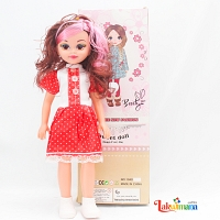 Beauty Sweet Girl Doll with Red Dress