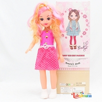 Beauty Sweet Girl Doll with Silver Belt
