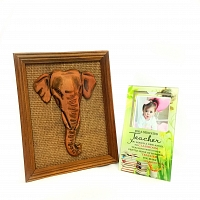 Teachers Day Ornament with Elephant Face Frame