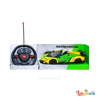 Yellow and Green Sports Car