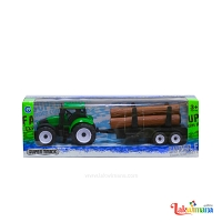 Green Super Truck with Logs
