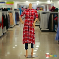Ladies Red Cross Stripes Dress