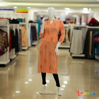 Ladies Peach Minimal Design Dress