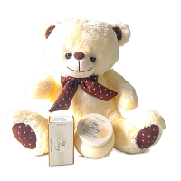 Milk Honey cosmetics and Bear