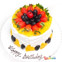 Twisty Fruits 1kg Cake