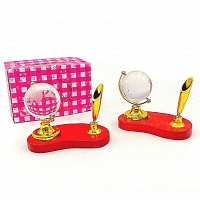 Pen Holder With Ornament World