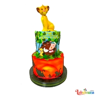 Lion King Double Decker Birthday Cake