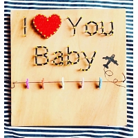 Love You Baby String Art